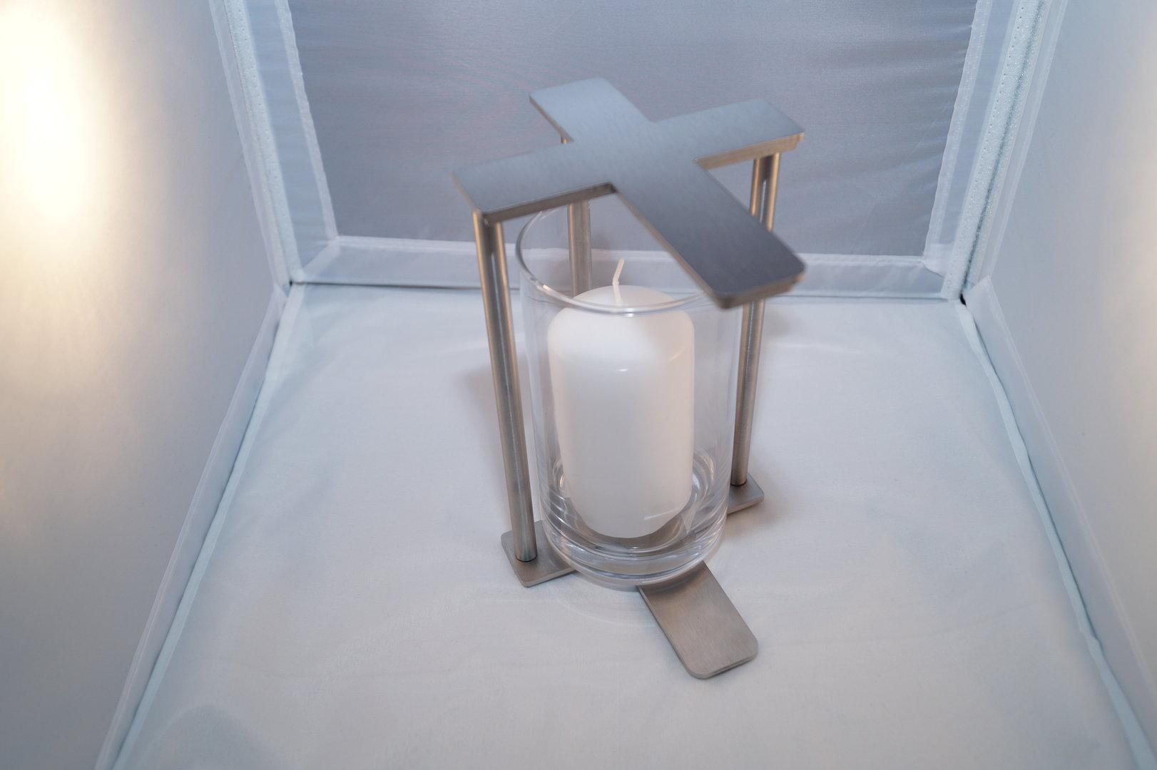windlicht grablicht laterne rostfrei kreuz k s e shop. Black Bedroom Furniture Sets. Home Design Ideas