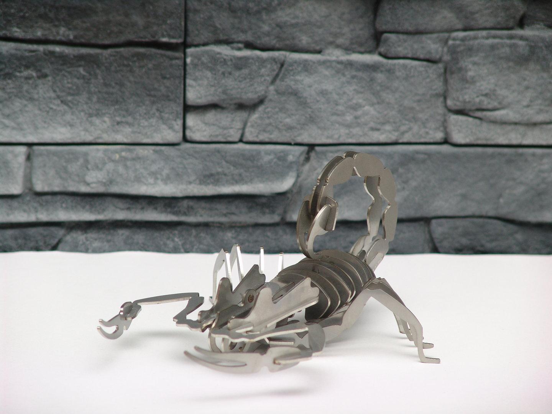 3d puzzle scorpion edelstahl k s e shop. Black Bedroom Furniture Sets. Home Design Ideas